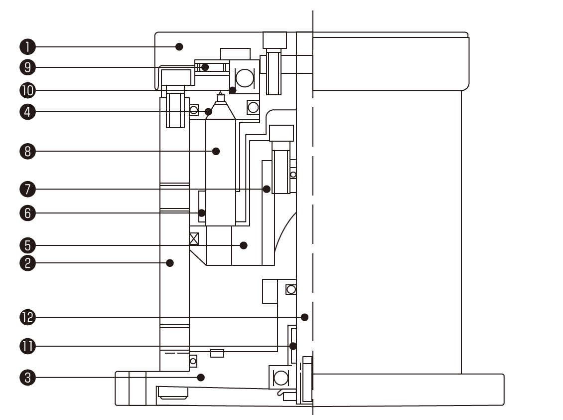 ミニテーブル構造図